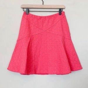 Marc by MarcJacobs pink dot texture scuba skirt